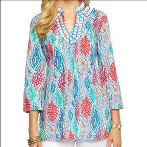 Lily Pulitzer Tropical Print Tunic - Size Small